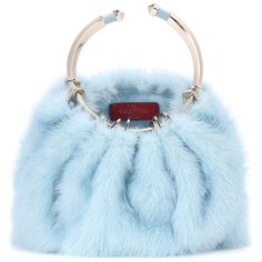 Valentino Valentino Garavani Bebop Loop Mink Fur Clutch ($3,355) ❤ liked on Polyvore featuring bags, handbags, clutches, purses, blue, blue purse, blue handbags, loop handbags, valentino handbags and mink handbag