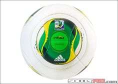 adidas Confederations Cup 2013 Match Soccer Ball - White with Green...$149.99