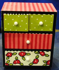 PRIVATE Listing For Jewelry Box Hand Painted