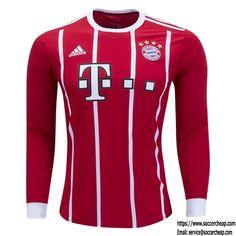17/18 adidas Bayern Munich Long Sleeve Home Jersey