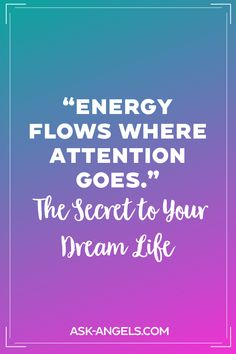 Where you focus your attention is where you're flowing your energy. Focus on what you want to create and manifest in your experience! Out Of Body, Psychic Development, Spiritual Guidance, Psychic Abilities, Favorite Quotes, Flow, Insight, Spirituality, Create