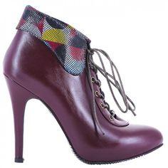 9100 Bordo cu detalii Leather Shoes, Stiletto Heels, Boots, Fashion, Leather Dress Shoes, Crotch Boots, Moda, Leather Boots, Fashion Styles