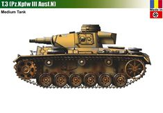 T-3 / Pz.Kpfw III Ausf.N Panzer Iii, Patton Tank, Central And Eastern Europe, Tank Destroyer, Armored Fighting Vehicle, Ww2 Tanks, World Of Tanks, Armored Vehicles, World War Two