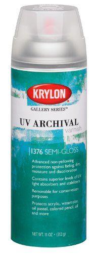 UV Archival Varnish Aerosol Spray 11 Ounces-Semi-Gloss Krylon http://www.amazon.co.uk/dp/B003VWMM32/ref=cm_sw_r_pi_dp_QwNgvb125CR72