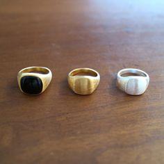 PERNILLE CORYDON ペニーレ コリドン【r-103-gp-50】Signet Ring シグネットリング 18k gold plated sterling silver