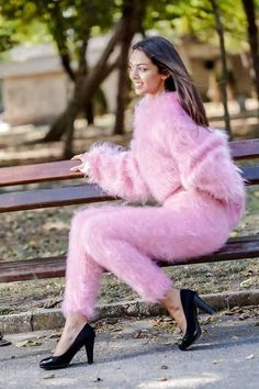 34 Affordable and Cute Feathered Sweater for Winter Fluffy Sweater, Angora Sweater, Pink Sweater, Sweater Outfits, Knit Fashion, Girl Fashion, Winter Sweaters, Sweaters For Women, Affordable Work Clothes