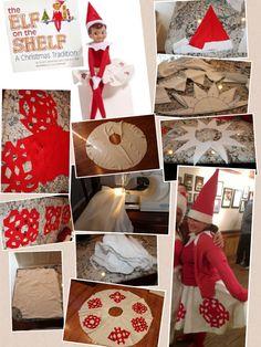 Homemade Elf on the Shelf Costume DIY