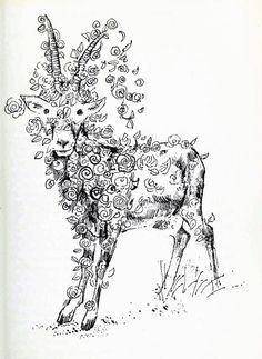 A Book of Magical Beasts - Raymond Briggs Raymond Briggs, British Books, British Traditions, Edmund Dulac, Magazine Illustration, Book And Magazine, Science Fiction, Beast, Moose Art