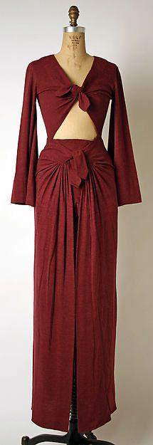 Evening dress Designer: Madame Grès (Alix Barton)  (French, Paris 1903–1993 Var region) Date: 1969 Culture: French Medium: angora