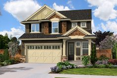 Traditional Style House Plan - 4 Beds 2.5 Baths 1910 Sq/Ft Plan #132-223 Front Elevation - Houseplans.com