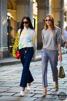 Milan SS 2017 Street Style: Gilda Ambrosio and Giorgia Tordini