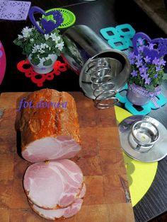 Moje Małe Czarowanie: Schab w paprykowej skórce How To Make Sausage, Sausage Making, Cold Cuts, Kielbasa, Smoking Meat, Charcuterie, Ham, Alcoholic Drinks, Pork