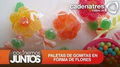 ¿Cómo hacer flores de gomitas? / ¿Cómo hacer paletas de gomitas en forma...