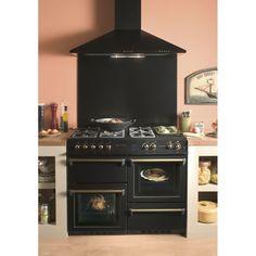 piano de cuisson falcon kitch110 mixt noir mat cuivree. Black Bedroom Furniture Sets. Home Design Ideas