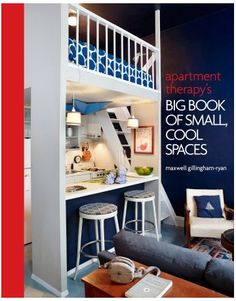 Small Space Solutions from Maxwell Gillingham-Ryan - Small Apartment Solutions - House Beautiful ... Love the navy and white