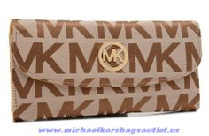 Authentic Michael Kors Canvas Logo Wallet For Wholesale