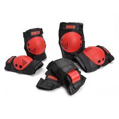 Stoere beschermset voor jongens. De zwarte beschermers hebben rode details. Bescherm tijdens het skeeleren en skateboarden je polsen, knieën en ellebogen goed! Inhoud: polsbeschermers, kniebeschermers en elleboogbeschermers.