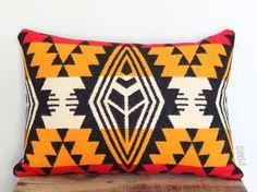 Geometric Wool Pillow // Tri-Gold Medium B / by ScoutandWhistle