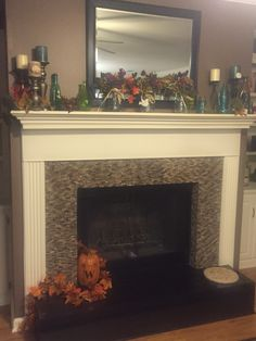 mantel decorating ideas for everyday   Google Search   Mantle Ideas     Fall mantle