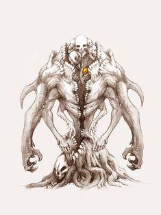 Shadow Monster, Monster Art, Monster Concept Art, Fantasy Monster, Creature Concept Art, Creature Design, Fantasy Creatures, Mythical Creatures, Fantasy Character Design