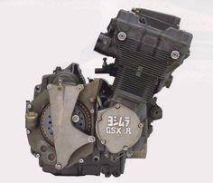 Suzuki GSXR engine with dry clutch
