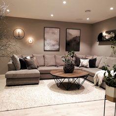 Home Room Design, Stylish Living Room, Living Room Decor On A Budget, Living Room Decor Apartment, Apartment Living Room, Apartment Decor, Living Room Decor Modern, Romantic Living Room, Brown Living Room