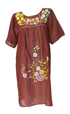 Bonya Women's Embroidered Mexican Tunic Short Dress - Bro... https://www.amazon.com/dp/B01H5N8C0E/ref=cm_sw_r_pi_dp_Vovzxb9ZBK050