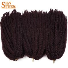 Silky Strands 18Inch Synthetic Marley Braids Hair Crochet Ombre Afro Kinki Kanekalon Synthetic Braiding Hair 3Packs/Lot