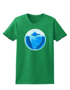 TooLoud Iceberg Watercolor Womens Dark T-Shirt