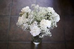 baby's breath (gypsophila) and white carnations