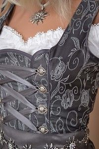 I don't really know where to categorize this. I love dirndls in general, but love the gray of this one especially -->Dirndl with Edelweiss- love the grey