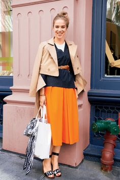 Let the social-media manager of Tibi show you how to wear culottes to work #officeoutfit