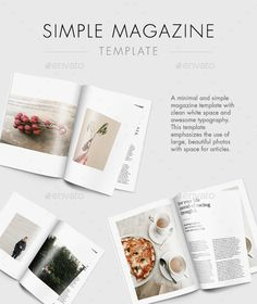 Simple Magazine Template  #indesign #8.5x11 • Click here to download ! http://graphicriver.net/item/simple-magazine-template/15879393?ref=pxcr