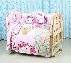 79.80$  Buy now - http://aligm4.worldwells.pw/go.php?t=32343736755 - Promotion! 10PCS Baby cot crib bumper bed baby crib bedding set kit baby bedding (bumper+pillow+matress+duvet)
