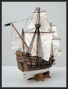 16th Century Spanish Galleon San Salvador Free Paper Model Download