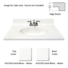 Image result for Marble Recessed round Gray On White Cultured Marble Integral Bathroom Vanity Top