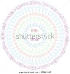 Hand drawn floral decorative vector brushes. Ink doodle illustration.Trendy doodle style brushes. - stock vector