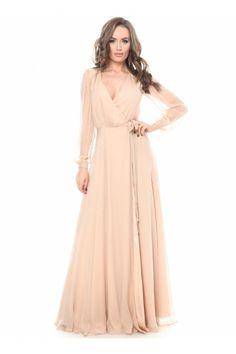 rochie lunga matase naturala - rochii de seara lungi