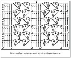 GRAFICOS DE CROCHET O GANCHILLO: CROCHET = PUNTOS FANTASIAS TEJIDOS A GANCHILLO SU PATRON