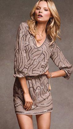 Sequin Blouson Dress - Victoria's Secret