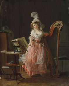 La jeune musicienne, 1788, Michel Garnier