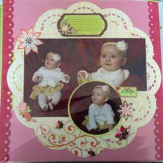 Baby scrapbooking layout