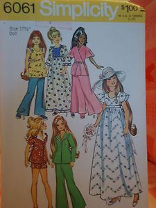 Vintage Simplicity pattern for Crissy by Ideal  ( I had a Crissy and my grandma made me some of these clothes too! )