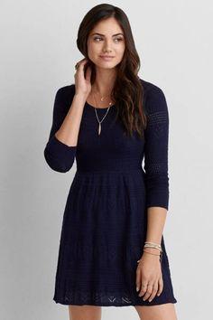 8df23d694b AEO Fit Sweater Dress - Size Small Fit Flare Dress