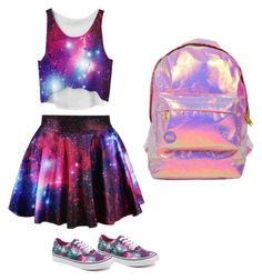 """""""Galaxy"""" by danay04 on Polyvore featuring Miss Selfridge and Vans"""