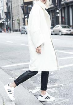 la modella mafia black and white minimalist street style with Adidas via thehautepursuit