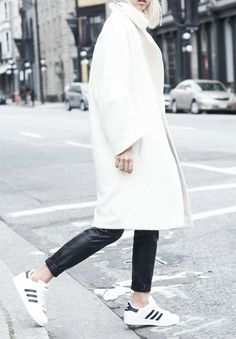 la modella mafia black and white minimalist street style with Adidas via thehautepursuit