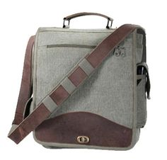 Olive Drab Vintage M-51 Engineer Messenger Bag with Leather Trim  from Harry's Army Surplus