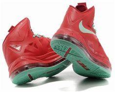 http://www.asneakers4u.com Nike Lebron 10 Varsity Red Fresh Green1