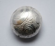 Handmade Sterling Silver bead  spiral silver bead  by McDaddio, $23.00